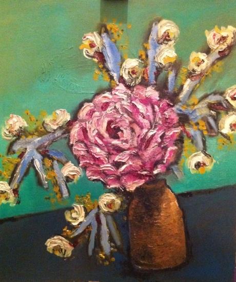flores de primavera pintura arte