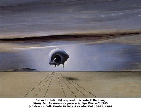Salvador Dali diseño película Spellbound Hitchcock